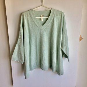 Pure Jill Oversized Sweater Pale Green Size XS